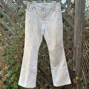 Chico's platinum denim jeans tan size 1.5
